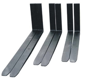 "Forklift Forks - 5,000lb, 1.5"" x 4""W x 48""L, full taper/polished"